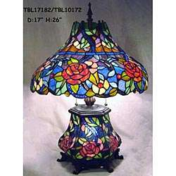 Tiffany style Stained Glass Base Light Table Lamp