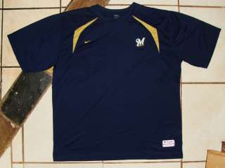 MILWAUKEE BREWERS NIKE DRI FIT XXLARGE SHIRT XXL