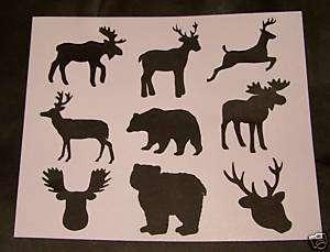 STENCILS ~ANIMALS ~MOOSE,DEER,BEARS,DEER HEAD