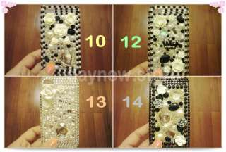 iPhone 4 4G Bling Diamond Rhinestone Pearl Crystal Case Cover