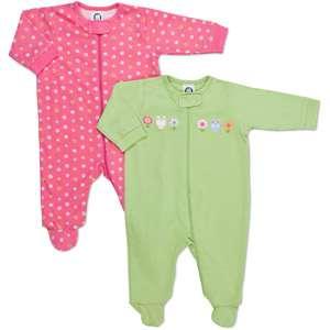 Gerber  Newborn Girls 2 Pack Sleep n Play Baby Clothing