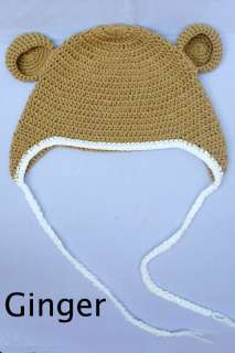 Cute Gorgeous Baby/Toddler Boy Girl Teddy Ears Monkey Hat/Beanie