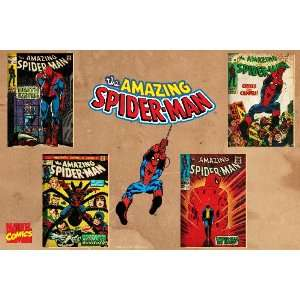 Marvel Comics Retro Amazing Spider Man Comic Book Covers