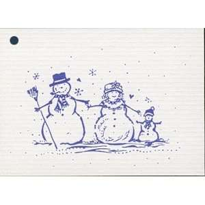 100 Hang Tags *SNOW FAMILY* & 100 Cut Strings. Personalize