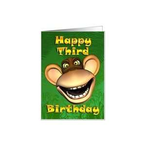 Happy 3rd Birthday Monkey Banana Card Toys & Games