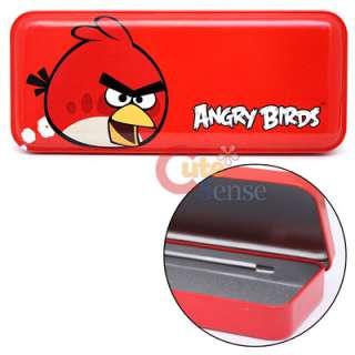 Angry Birds Pencil Case Metal Tin Box Rovio Licensed  Red Bird