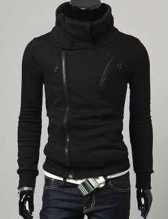 NEW Mens Korean Version Double Zip Style Hoodie Sweater Jacket 2879