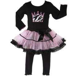 Ann Loren Girls 2 piece High Fashion Tutu Outfit