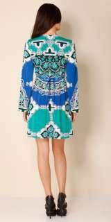 Hale Bob Teal Jersey Beaded Dress XS 0 2 4 UK 4 6 NWT