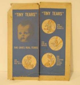 VINTAGE TINY TEARS DOLL 50S DISPLAY AMERICAN CHARACTER