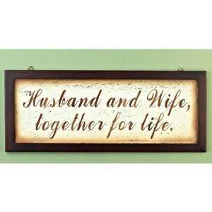 INSPIRATIONAL WALL PLAQUE (Husband & Wife): Everything Else