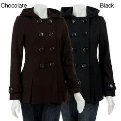 Miss Sixty Womens Petite Short Wool Blend Coat