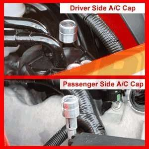 05 10 Mustang Billet Designer A/C Cap Cover Kit