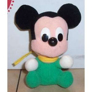 Walt Disney MICKEY MOUSE 4 plush stuffed toy Rare Vintage