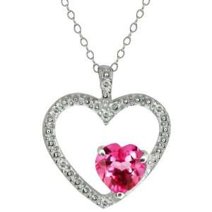 0.94 Ct Heart Shape Pink Mystic Topaz and Topaz Sterling