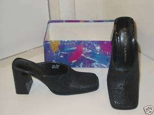 Chinese Laundry Fame Black Mules Heels Shoes Womens 6