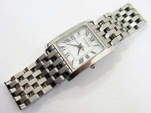 WITTNAUER LADIES WATCH WHITE FACE STAINLESS BAND 10L00