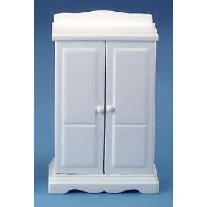 Dollhouse Miniature White Armoire