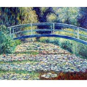 Oil Paintings The Japanese Bridge Oil Painting Canvas Art Home