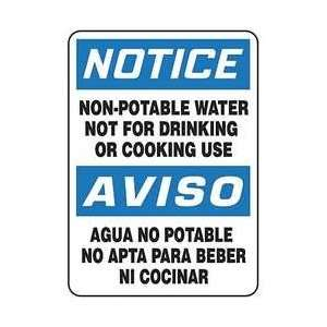 Sign,14x10,non Potable Water   ACCUFORM SIGNS