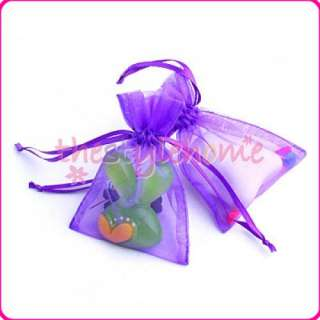 50 Organza Drawstring Pouch Gift Bags 3x4 Color Asst
