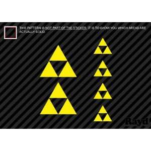 Zelda Triforce   Set of 6   Sticker   Decal   Die Cut