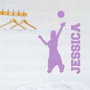 VOLLEYBALL PLAYER CUSTOM NAME GIRL Quote Vinyl Wall Decal Sticker