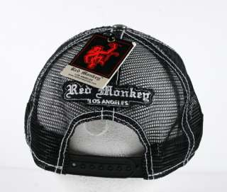 Red Monkey ATOMIC BLAST cap trucker hat embroidered Limted edition