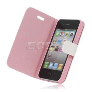 Miffy Rabbit Printed Leather Wallet Case Cover for Apple iPhone 4 4G