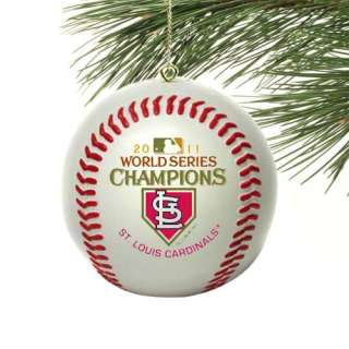 St. Louis Cardinals 2011 World Series Champions Mini Baseball Ornament