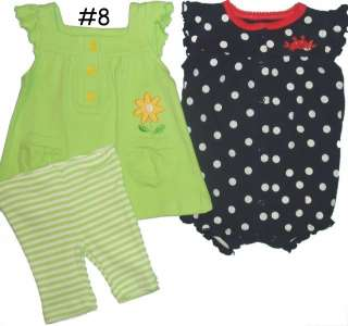 PIECE SETS BABY GIRLS OUTFIT MIXED LOT INFANTS SUMMER PLAY CLOTHES NWT