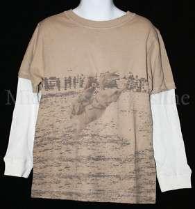 Gymboree RODEO COWBOY Tan Horse/Bronco Shirt/Top 6 NWT
