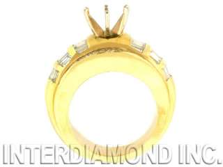 14KT YELLOW GOLD DIAMOND SEMI MOUNT RING 2.60 CTW