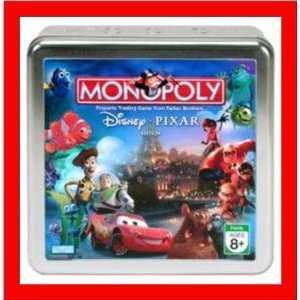 Parker Brothers Disney Pixar Monopoly in Collectors Tin Toys & Games