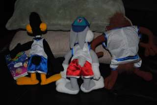 Space Jam Daffy Bugs Bunny Taz Plush Doll Looney Tunes