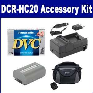 Sony DCR HC20 Camcorder Accessory Kit includes SDC 26 Case, DVTAPE