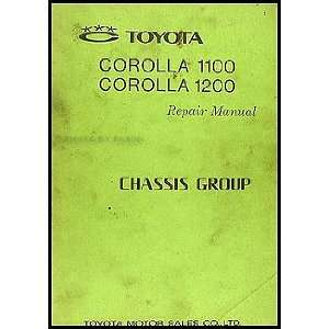 1968 1970 Toyota Corolla Chassis Repair Shop Manual Original No. 98411