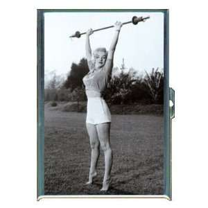 KL MARILYN MONROE LIFTS WEIGHTS ID CREDIT CARD WALLET CIGARETTE CASE