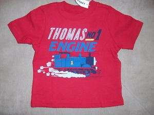 NWT OLD NAVY BOYS THOMAS TRAIN T SHIRT 6 12 12 18 2T