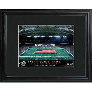 St. Louis Rams Personalized NFL Stadium Print with Wood