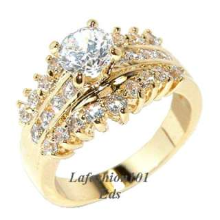 Best selling Gold Plated Women Bridal/Wedding Ring sz 7