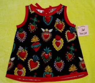 Rockabilly Heart toddler baby girl dress kids clothes