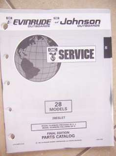 1993 Evinrude Johnson Outboard Parts Catalog 28 HP u
