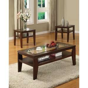 Acme 18462 3 Piece Brian Coffee/End Table Set, Brown