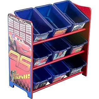Pixar Cars 9 Bin Toy Organizer  Disney Baby Furniture Storage