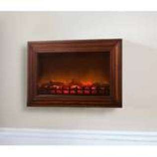 Wall Mounted Electric Fireplace   Black  Fire Sense For the Home