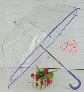 Transparent long handled princess umbrella wedding