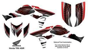 Honda TRX 450R ATV Graphics Decal Kit 7777 Red