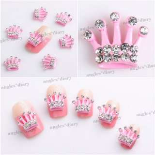 Alloy Rhinestones Crown Nail Art Glitters Slices DIY Decoration