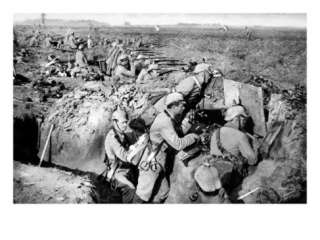 Machine Gun in German Trenches WWI Giclee Print at AllPosters